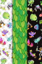 My Singing Monsters Patterned Paper