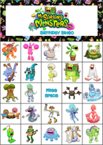 My Singing Monsters Birthday Bingo