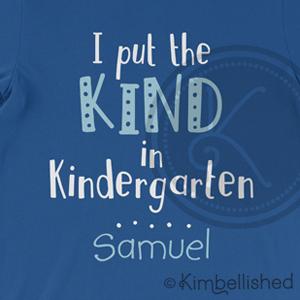Kind in Kindergarten - Blue/White