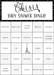 ... Baby Shower Bingo · Paris Doodle Sketch Bingo