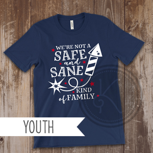 Safe and Sane - Navy Blue - Youth