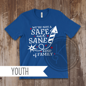 Safe and Sane - Royal Blue - Youth