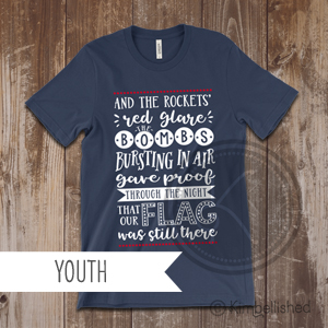 Star Spangled Banner - Navy - Youth