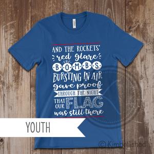 Star Spangled Banner - Royal Blue - Youth